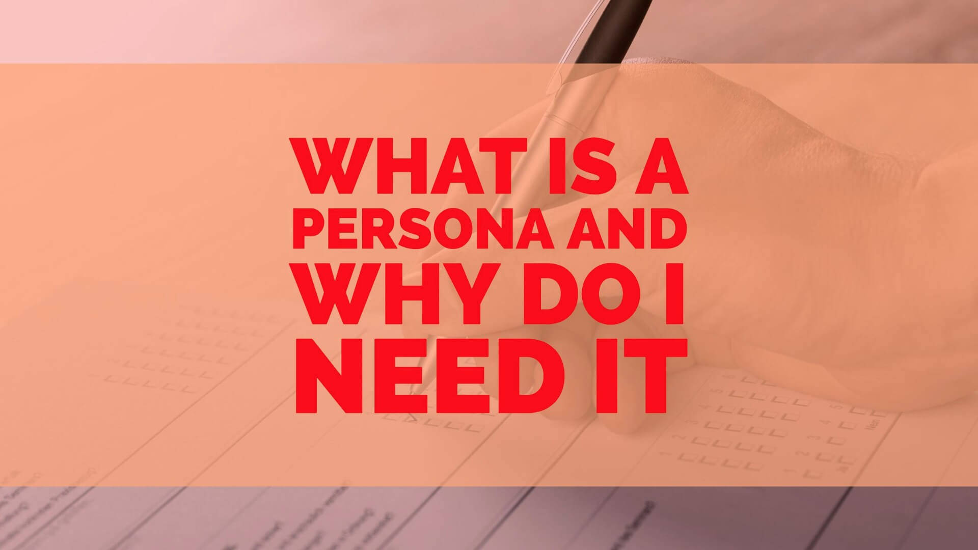What is persona | REDotzCreations